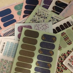 Lot of Jamberry Nail Wraps- Half Sheets